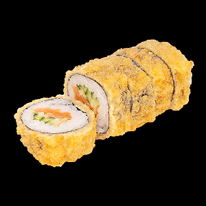 Foto Fried crispy salmon roll